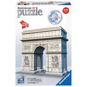 """Ravensburger (12514) - """"Arc de Triomphe, Paris"""" - 216 pièces"""