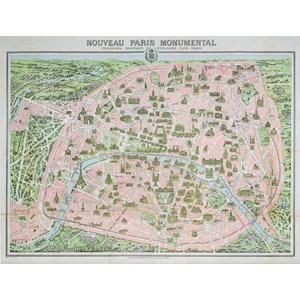 "Piatnik (542848) - ""Paris Map, 1910"" - 1000 pièces"