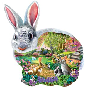 """SunsOut (95165) - Mary Thompson: """"Bunny Hollow"""" - 1000 pièces"""
