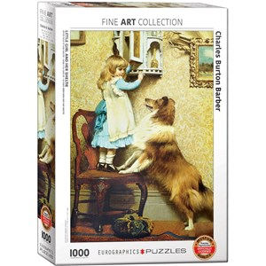 """Eurographics (6000-5330) - Charles Burton Barber: """"Little Girl and her Sheltie"""" - 1000 pièces"""