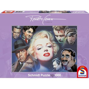 "Schmidt Spiele (57550) - Renato Casaro: ""Marilyn Monroe and Friends"" - 1000 pièces"