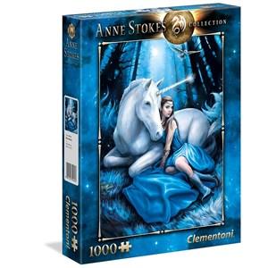 """Clementoni (39462) - Anne Stokes: """"Lune Bleue"""" - 1000 pièces"""