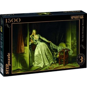 "Step Puzzle (83205) - Jean-Honoré Fragonard: ""The Stolen Kiss"" - 1500 pièces"