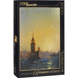 """Step Puzzle (84202) - Ivan Aivazovsky: """"View of Leandrovsk tower in Constantinople"""" - 2000 pièces"""