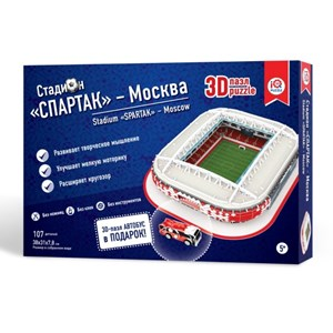 "IQ 3D Puzzle (16545) - ""Stadium Spartak, Moscow"" - 107 pièces"