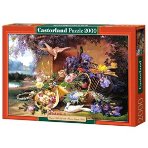 "Castorland (C-200276) - Eugene Bidau: ""Elegant Still Life with Flowers"" - 2000 pièces"