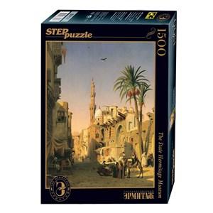"""Step Puzzle (83207) - Prosper Marilhat: """"Elizbekia Street au Caire"""" - 1500 pièces"""