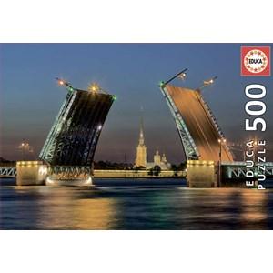 "Educa (17413) - ""Palace Bridge in Saint Petersburg, Russia"" - 500 pièces"