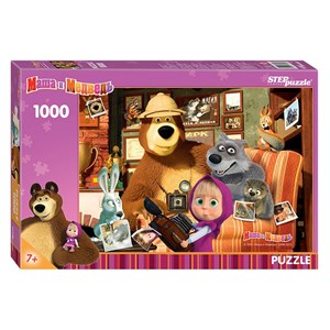 """Step Puzzle (79605) - """"Masha and the Bear"""" - 1000 pièces"""
