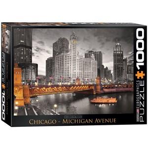 "Eurographics (6000-0658) - ""Chicago, Michigan Avenue"" - 1000 pièces"