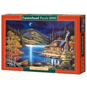 "Castorland (C-102990) - John Zaccheo: ""Moonlit Cabin"" - 1000 pièces"