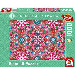 "Schmidt Spiele (59586) - Catalina Estrada: ""Red Rosebush"" - 1000 pièces"