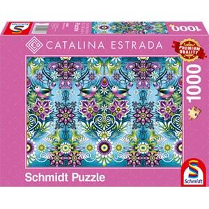 "Schmidt Spiele (59587) - Catalina Estrada: ""Blue Sparrow"" - 1000 pièces"