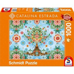 "Schmidt Spiele (59589) - Catalina Estrada: ""Colorful Tree"" - 1000 pièces"