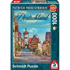 """Schmidt Spiele (59582) - Patrick Reid O'Brien: """"Deutschland"""" - 1000 pièces"""