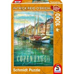 """Schmidt Spiele (59583) - Patrick Reid O'Brien: """"Copenhague"""" - 1000 pièces"""