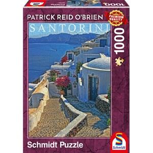"""Schmidt Spiele (59584) - Patrick Reid O'Brien: """"Santorini"""" - 1000 pièces"""