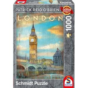 """Schmidt Spiele (59585) - Patrick Reid O'Brien: """"Londres"""" - 1000 pièces"""