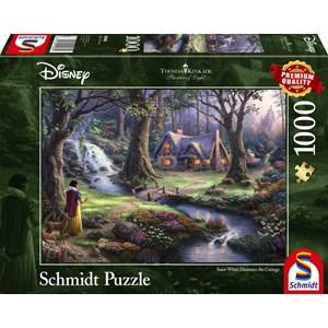 "Schmidt Spiele (59485) - Thomas Kinkade: ""Disney, Blanche Neige"" - 1000 pièces"