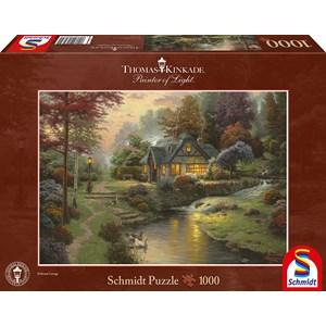 "Schmidt Spiele (58464) - Thomas Kinkade: ""Soirée paisible"" - 1000 pièces"