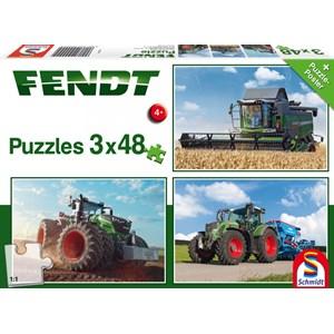 """Schmidt Spiele (56221) - """"Fendt 1050 Vario / 724 Vario / 6275L"""" - 48 pièces"""