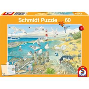 "Schmidt Spiele (56248) - ""Animals by the Sea"" - 60 pièces"
