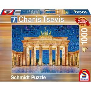 "Schmidt Spiele (59578) - Charis Tsevis: ""Berlin"" - 1000 pièces"
