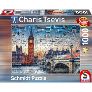 """Schmidt Spiele (59579) - Charis Tsevis: """"Londres"""" - 1000 pièces"""