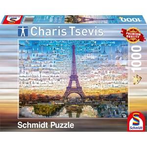 """Schmidt Spiele (59580) - Charis Tsevis: """"Paris"""" - 1000 pièces"""