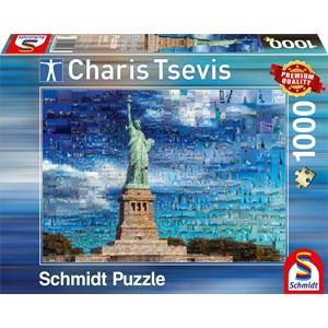 "Schmidt Spiele (59581) - Charis Tsevis: ""New York"" - 1000 pièces"