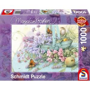 """Schmidt Spiele (59572) - Marjolein Bastin: """"Panier de Fleurs"""" - 1000 pièces"""