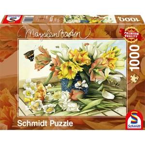 """Schmidt Spiele (59573) - Marjolein Bastin: """"Fleurs de Printemps"""" - 1000 pièces"""
