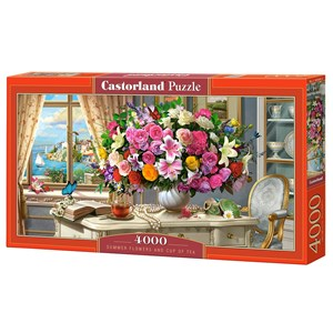 """Castorland (C-400263) - """"Summer Flowers and Cup of Tea"""" - 4000 pièces"""