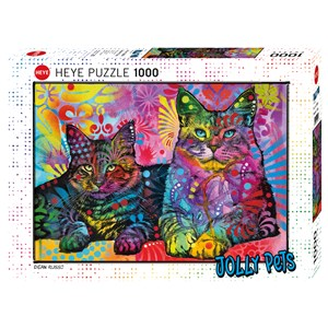"""Heye (29864) - Dean Russo: """"Devoted 2 Cats"""" - 1000 pièces"""