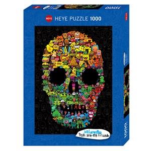"Heye (29850) - Jon Burgerman: ""Doodle Skull"" - 1000 pièces"