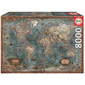 """Educa (18017) - """"Carte du Monde Antique"""" - 8000 pièces"""