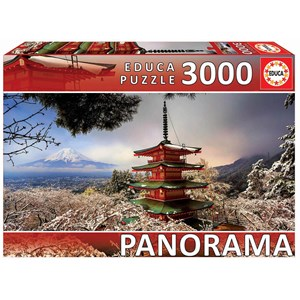 "Educa (18013) - ""Mount Fuji and Chureito Pagoda, Japan"" - 3000 pièces"