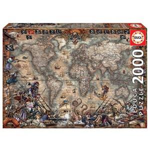 """Educa (18008) - """"Carte du Monde Antique"""" - 2000 pièces"""