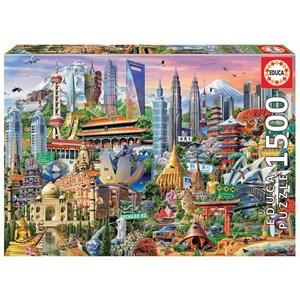 "Educa (17979) - ""Asia Landmarks"" - 1500 pièces"