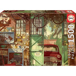 "Educa (18005) - Arly Jones: ""Old Garage"" - 1500 pièces"