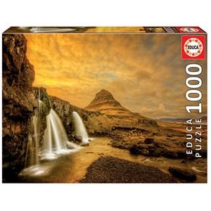 "Educa (17971) - ""Chute d'eau de Kirkjufellsfoss, Islande"" - 1000 pièces"