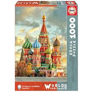 """Educa (17998) - """"Cathédrale Saint-Basile, Moscou"""" - 1000 pièces"""