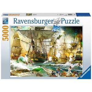 """Ravensburger (13969) - """"Bataille en Haute Mer"""" - 5000 pièces"""