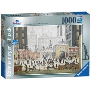 """Ravensburger (19748) - L. S. Lowry: """"Lowry Coming From the Mill"""" - 1000 pièces"""