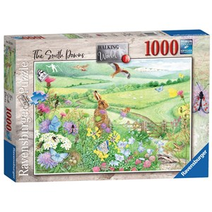 """Ravensburger (15176) - Anne Searle: """"Walking World, South Downs"""" - 1000 pièces"""