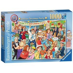 "Ravensburger (19769) - Geoffrey Tristram: ""Office Christmas Party"" - 1000 pièces"