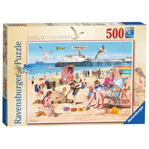 """Ravensburger (14753) - Andy Walker: """"A Day at the Beach"""" - 500 pièces"""