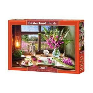 """Castorland (C-104345) - """"Still Life With Violet Snapdragons"""" - 1000 pièces"""