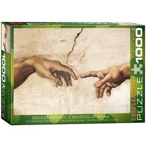 """Eurographics (6000-2016) - Michelangelo: """"La Création de l'Homme"""" - 1000 pièces"""