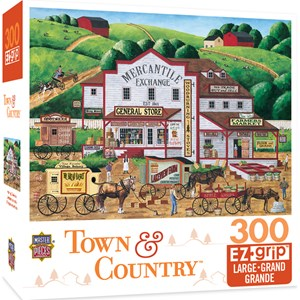 """MasterPieces (31808) - Art Poulin: """"Town & Country Morning Deliveries"""" - 300 pièces"""